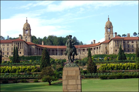The Union Buildings, seat of South Africa's government.