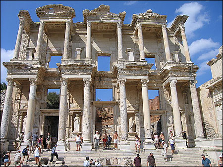 The Celsus Library in Ephesus, Turkey, dating from 135 AD.