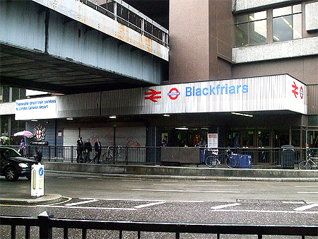 Blackfriars Train Station.