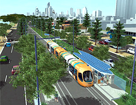 Light rail system.