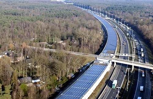 Solar panels powered the train.
