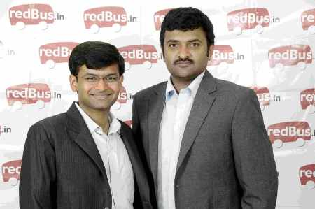 Co-founders of redBus - Phanindra Sama(left) and Charan Padmaraju