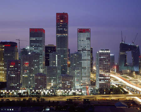 China is the biggest producer of steel. A view of Beijing.