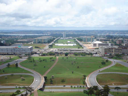 Brazil is at number 10. A view of Brasilia.