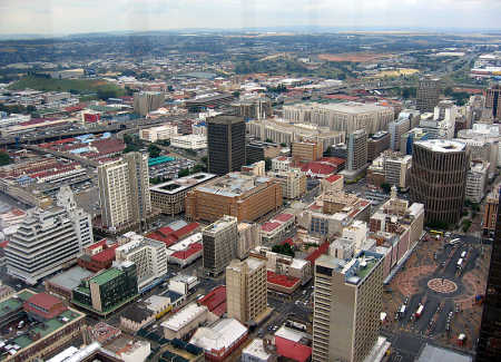 South Africa is at number 23. A view of Johannesburg.
