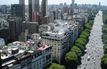 Argentina is at number 26. A view of Buenos Aires.
