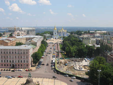 Ukraine is at number nine. A view of Kiev.
