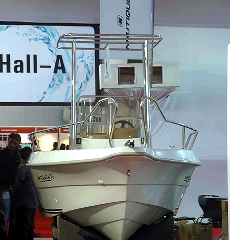 It is said to be India's largest and only truly international boat show.