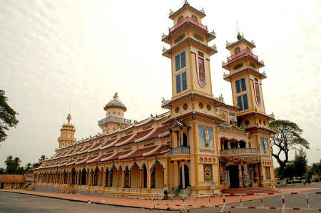 Main Cao Dai temple in the city of Tay Ninh.