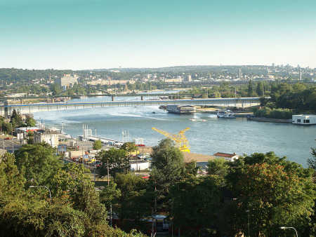 A view of Belgrade, Serbia.