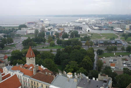 A view of Tallinn, Estonia.