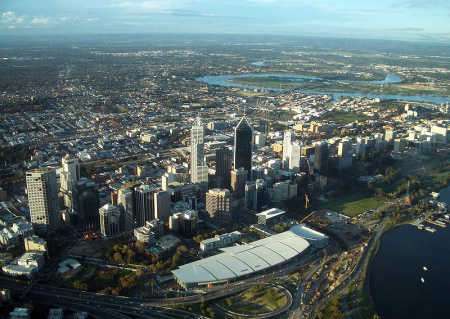 A view of Perth, Australia.