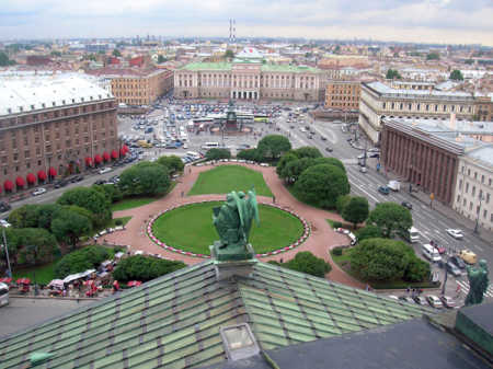 A view of St Petersburg, Russia.