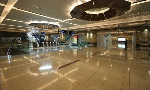 Dubai Metro station.