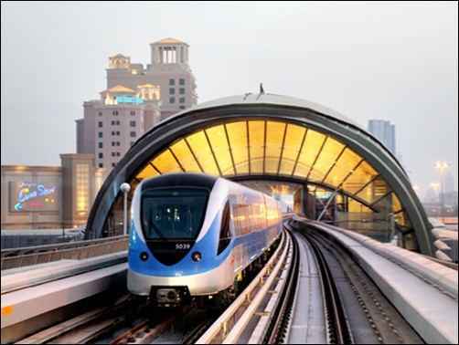 Dubai Metro train.