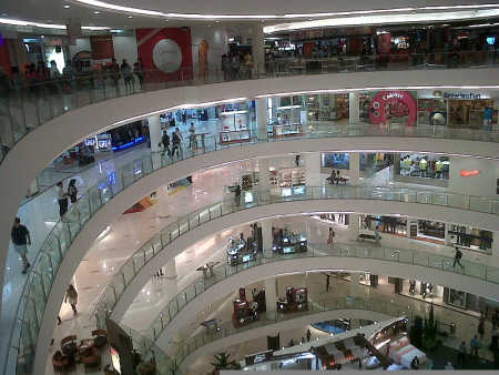 A shopping mall in Jakarta.