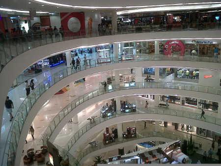 A shopping mall in Jakarta.