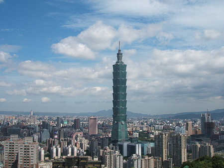A view of Taipei.