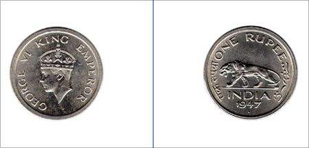 One rupee coin.