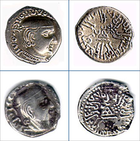 Coins of the Western Kshatrapas.