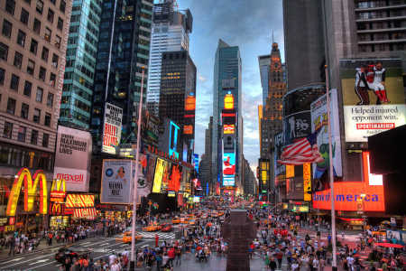 A view of Times Square in New York City.