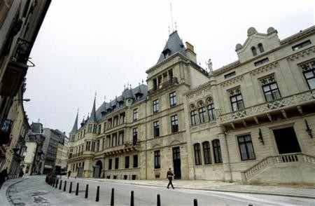 A general view of the Ducal Palace in Luxembourg