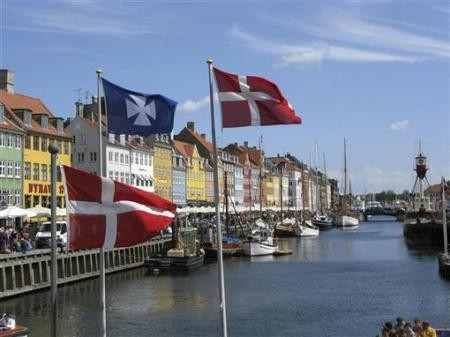 The Nyhavn canal, part of the Copenhagen Harbor in Denmark