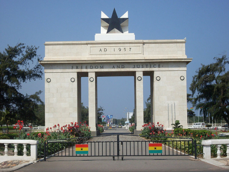 Independence Arch in Accra, Ghana.