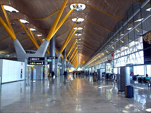 Madrid Barajas Airport.