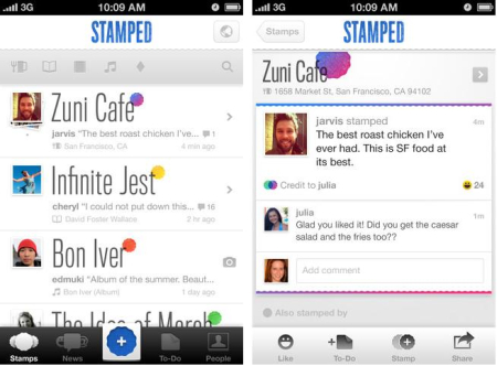 Stamped takes the clutter and anonymity out of recommendations.