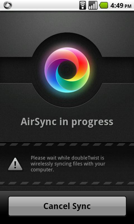 This app lets you sync your iTunes music, videos and photos.