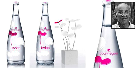 Andre Courreges (inset) for evian (R)