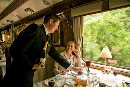 The train has two 42-seat dining cars.