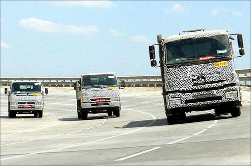 BharatBenz truck.