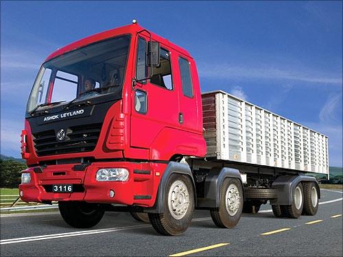 Ashok Leyland truck.