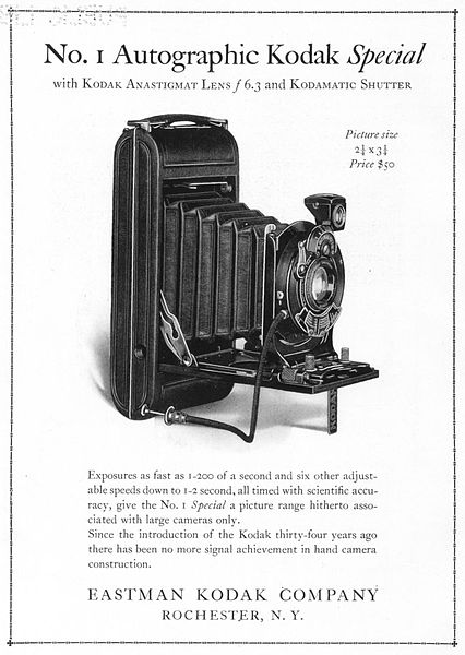 A Kodak advertisement in 1922.