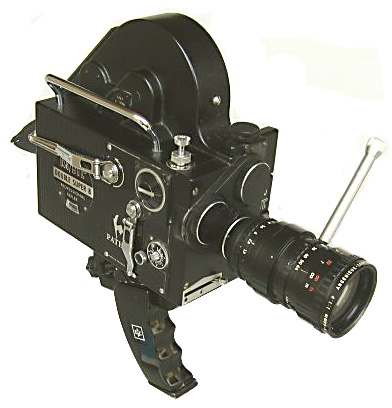 Double super 8 movie camera manufactured by Kodak-Pathe in France.