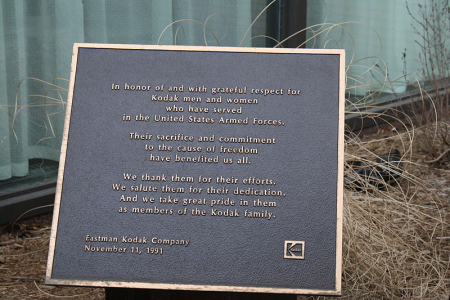 A  Kodak Remembrance Plaque in New York.