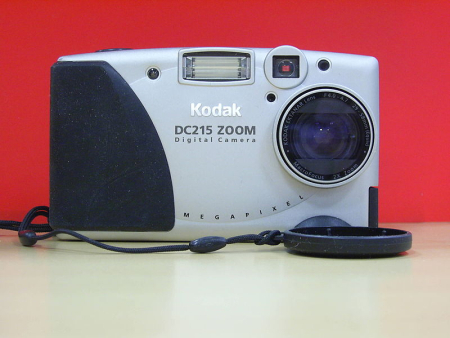 Kodak's DC215 digital camera.