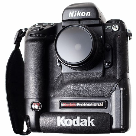 Kodak DCS 760 digital SLR based on a Nikon F5 body.