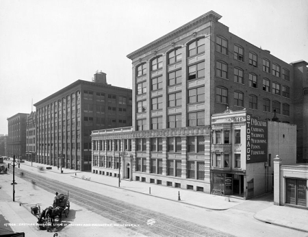 Kodak factory and main office in Rochester, New York, circa 1910.