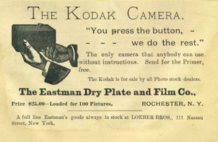 Advertisement from The Photographic Herald and Amateur Sportsman (November 1889).