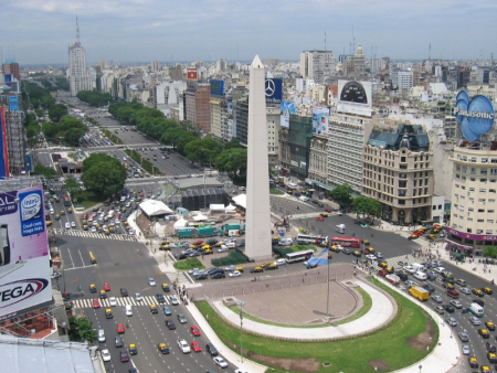 Majority of employees in Argentina expect pay rise and bonus. A view of capital Buenos Aires.