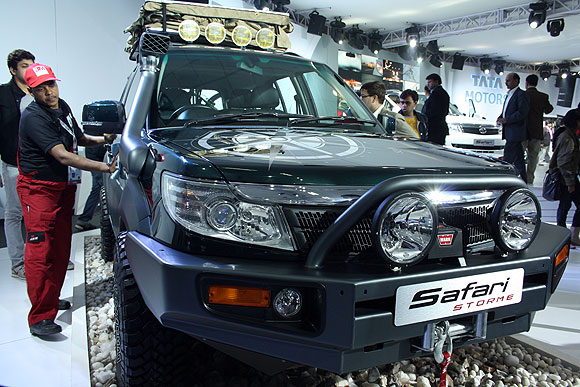 The Tata Safari Storm E Navigator can go through 6 feet of water.