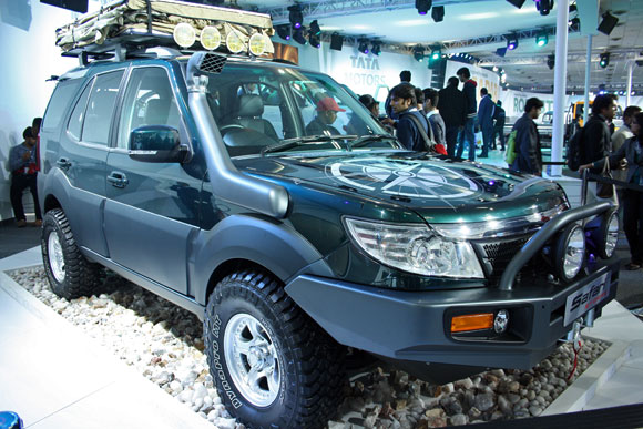 The Tata Safari Storm E Navigator.