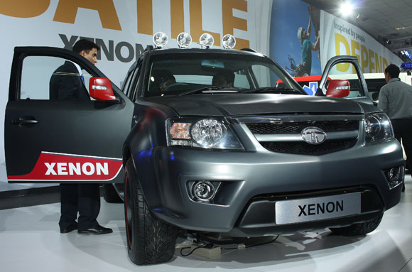 The Tata Xenon XT with a matt finish.