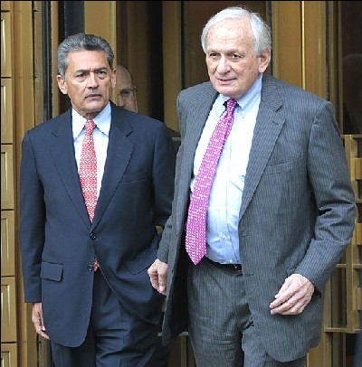 Rajat Gupta with his lawyer Gary Naftalis.