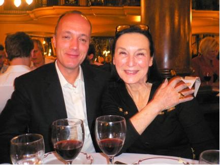 Pauline Karpidas with Stellan Holm.