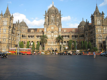 Chhatrapati Shivaji Terminus, formerly known as Victoria Terminus, in Mumbai.