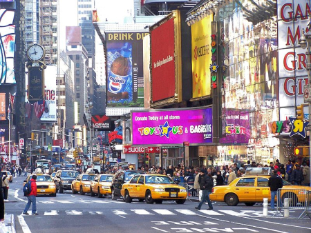 A view of Times Square in New York Times.